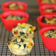 Savory Whole Wheat Zucchini Muffins With Feta, Parmesan, And Green ...