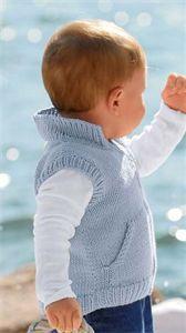 Bergere de France Babies Knitting Patterns Sleeveless Jacket Pattern