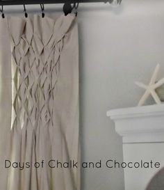 Smocked Drop Cloth Curtains;  Check out sewing honeycomb smocking.