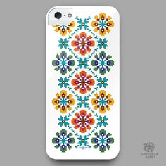 smartphone cover - design inspired by folk embroidery pattern from Bogliarka, Slovakia Folk Embroidery, Embroidery Patterns, Smartphone Covers, European Countries, Czech Republic, Cover Design, Inspired, Iphone, Projects