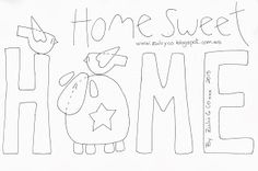 Embroidery Patterns Zulu and Co Home sweet home Embroidery Patches, Wool Applique, Applique Quilts, Embroidery Applique, Cross Stitch Embroidery, Embroidery Designs, Applique Templates, Applique Patterns, Quilt Patterns