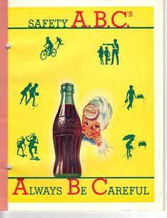 SALE - 1949 Coca-Cola Notebook, Vintage Advertising, Collectible, Unused, Safety ABCs. $14.50, via Etsy.