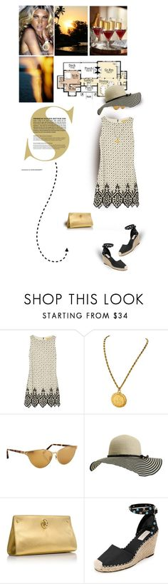 """Friday in July"" by sherry7411 ❤ liked on Polyvore featuring Alice + Olivia, Linda Farrow, Element, Tory Burch and Valentino"