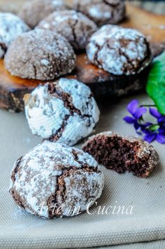 Here you can find a collection of Italian food to date to eat Baking Recipes, Cookie Recipes, Dessert Recipes, Almond Paste Cookies, Cacao Recipes, Biscotti Cookies, Biscuits, Italian Cookies, Breakfast Cake