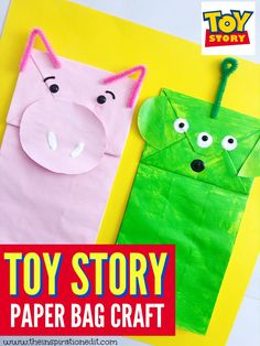 This is a super fun Toy Story crafts tutorial which is perfect for the release of the Toy Story 4 movie or as a Toy Story birthday party craft idea. #toystory #disney #craftsforkids #crafts