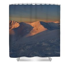 Winter mountain morning, print on shower curtain Shower Curtain Rings, Shower Curtains, Trillium Lake, Winter Mountain, Winter Magic, Curtains For Sale, Travel Photographer, Basic Colors, Color Show