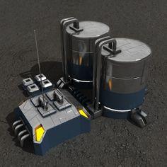 Fuel station sci-fi building Architecture  3D Models