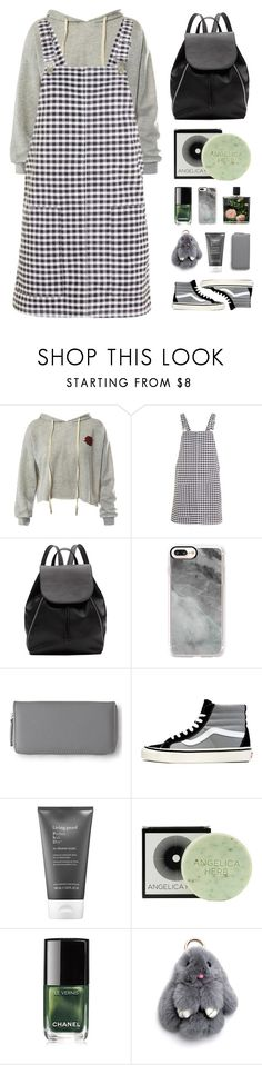 """Grey"" by askhaerunisa ❤ liked on Polyvore featuring Sans Souci, Topshop, Witchery, Casetify, Aéropostale, Vans, Living Proof, Jayson Home, Chanel and Nest Fragrances"