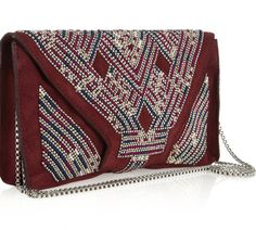 NWT - ISABEL MARANT - MALOU SUEDE CLUTCH