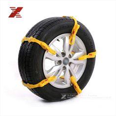 5 unids/lote Universal ajustable Auto Car SUV soplador de neumáticos cadenas para la nieve taza de helado de suelo Road Anti deslizamiento de la rueda de la cadena para 165 - 265 mm