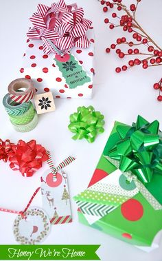 Honey We're Home: Washi Tape Gift Tags