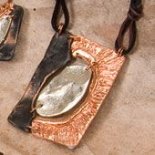 Necklace~Enamelled Copper, Silver and Bronze Necklace~Fair trade through Folio Gothic Hippy~NK327
