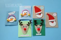 9 More Easy Homemade Christmas Cards with Step by Step Instructions – DIY Fan Unique Christmas Cards, Homemade Christmas Cards, Christmas Frames, Christmas Cards To Make, Christmas Crafts For Kids, Christmas Projects, Christmas Diy, Snowflake Cards, Kids Cards
