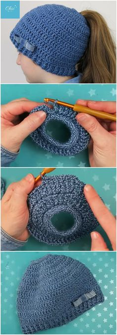 "Crochet Beautiful Beanie Hat - Free Pattern Video ""crocheters who love elegant and cute hats, this is nice chance to create a beautiful beanie hat with the Bonnet Crochet, Crochet Beanie Hat, Beanie Pattern, Knitted Hats, Crochet Hats, Beanie Hats, Bun Beanies, Ponytail Beanie, Sombrero A Crochet"