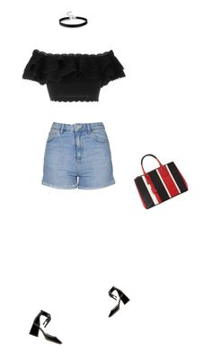 """""""Untitled #2666"""" by misnik ❤ liked on Polyvore featuring Topshop, Marc Jacobs, Alexander McQueen and Prada"""