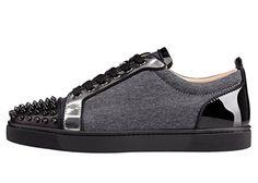 c0d06910189 FootGift chaussure Sneakers homme noire en cuir à la mode décorée avec des  revêts avec lacets EU50  Amazon.fr  Chaussures et Sacs