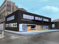warehouse gym - Warehouse Gym, Warehouse Design, Car Part Furniture, Automotive Furniture, Automotive Decor, Furniture Design, Gym Interior, Warehouse Conversion, Shop Buildings