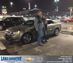 #HappyAnniversary to Kathryn Carey on your 2012 #Chevrolet #Malibu from Kimberly Folkner at Lake Country Chevrolet Cadillac!