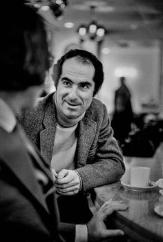 Philip Roth by Bob Peterson Elizabeth Bishop, Philip Roth, Johannes Gutenberg, The New Yorker, Nonfiction, Literature, Writers, Fictional Characters, Handsome Guys