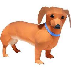 Dachshund,Animals,Paper Craft,Europe,Germany,brown,Mammals ,Animals,dog,Paper Craft