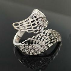 The female big ring of angel wings, Cheap fashion ring only $0.99 shop at http://Costwe.com/fashion-cheap-rings-c-47_43.html