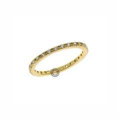 Ένα λεπτό μοντέρνο ολόβερο δαχτυλίδι από χρυσό Κ9 με ζιργκόν. Διατίθεται σε  ό 91354c2c311