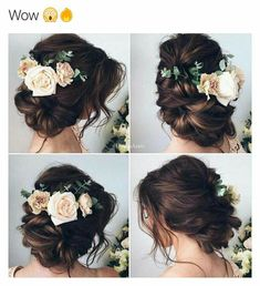 Wedding hair but with tropical flowers