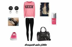 teen girl look School Outfits, Outfits For Teens, Mode Swag, Swag Style, My Style, Fashion Outfits, Womens Fashion, Fashion Tips, Dior