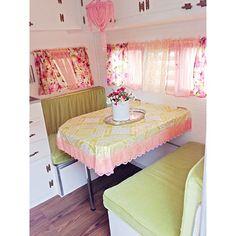 improvements on our vintage camper. #glamper #vintagecamper