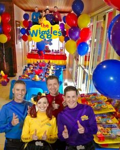 Wiggles Party Balloons-one stop kids party shop Wiggles Party, Wiggles Birthday, The Wiggles, 2nd Birthday, Birthday Ideas, Wedding Balloons, Birthday Balloons, Balloon Decorations, Birthday Party Decorations