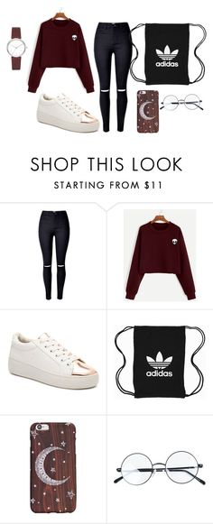 """Simple Look"" by jirahmaureen-tabanao on Polyvore featuring Steve Madden, adidas Originals, DKNY and ootd"
