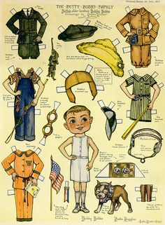 the betty bobb's* 1500 paper dolls at International Paper Doll Society by artist Arielle Gabriel #ArtrA #QuanYin5 Linked In QuanYin5 Twitter *