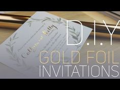This video walks you through the preparation and application of toner reactive foil to selected text on your card stock. I have trialled many different proce. Make Your Own Wedding Invitations, Bachelor Party Invitations, Foil Wedding Invitations, Affordable Wedding Invitations, Diy Invitations, Wedding Stationery, Gold Diy, Diy Holiday Cards, Gold Foil Paper