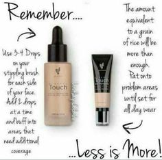✨Touch mineral liquid foundation Applies as a liquid dries to a powder for a smooth soft finish. ✨Touch mineral skin perfecting concealer. Covers blemishes, scars, marks and tattoos. These products are truly amazing.