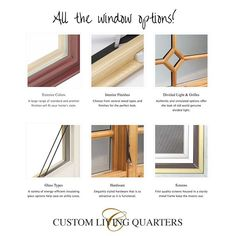 When it comes to windows there are so many details and we have you covered. As Western North Carolina's exclusive dealer of SEMCO Windows & Doors we'll help you find the right finish glass and hardware to fit your unique style. Give us a call or stop by custom living quarters to begin the process of finding the right windows for your home or business. Custom Woodworking, Asheville, Exterior Colors, Types Of Wood, Old World, Colorful Interiors, Divider, Things To Come, Hardware
