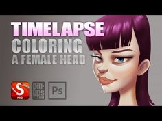 Autodesk Sketchbook Pro Timelapse : Quick Coloring Of A Head