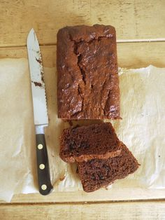 Chocolate loaf cake made with dried apricots, coconut oil and honey