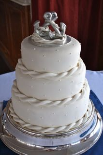 Elegant nautical wedding cake
