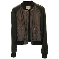 Pre-owned leather jacket (489.165 CLP) ❤ liked on Polyvore featuring outerwear, jackets, black, 100 leather jacket, leather jackets, pierre balmain jacket, genuine leather jackets and pierre balmain