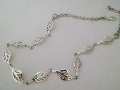 Leaf Necklace, My Etsy Shop, Jewels, Sterling Silver, Bracelets, Check, Bangle Bracelets, Jewelery, Gem