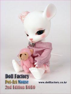 Pet-Ari Mouse de la compagnie Doll Factory  Une mignonne petite créature de 12 cm