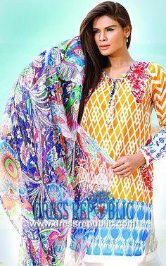 Kamal Pakistani Lawn Dresses 2014 by Zara Shahjahan  So Kamal Embroidered Lawn Collection 2014 by Zara Shahjahan by www.dressrepublic.com