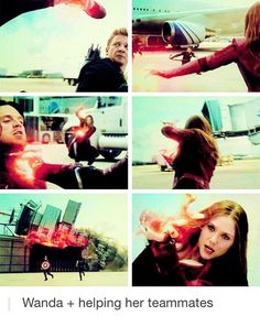 I love how in this fight she barely fights anyone. She is entirely focused on saving her friends