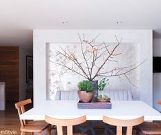 Amber Valletta's Santa Monica Abode - The Dining Room from #InStyle