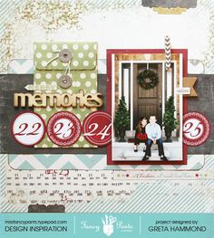"""Merry Memories layout by Greta Hammond using the """"Merry Little Christmas"""" collection from wwwlfancypantsdesigns.com"""