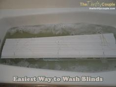 For years, I spent so much time washing blinds while they stayed hung up.  It was always annoying, back-breaking and arm-aching. I still never felt like I could get them clean enough!  Then I heard about this trick!