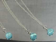 Aqua Chalcedony Necklace Solitaire by AngelWearDesigns2013 on Etsy