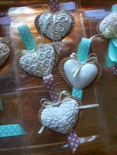 Diy And Crafts, Crafts For Kids, Soap Favors, Wedding Activities, Shabby Chic Crafts, Craft Markets, Clay Ornaments, Soap Packaging, Heart Art