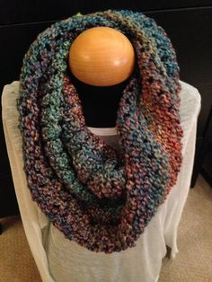 Handmade Infinity Knit Scarf  Painted Desert by ScarvesbyChelsey