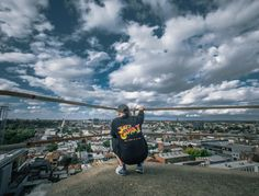 Hit the Rooftops with Will Kendall. Crewneck - Streetfighter- Hat - Sensie Strapback  #thirdchapter #3rdchapter #3C #Streetwear #clothing #urbanwear #mens